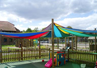 Example of completed Shade Sails project